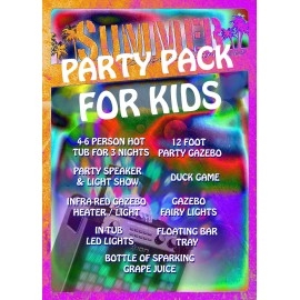 Kids hot tub party package